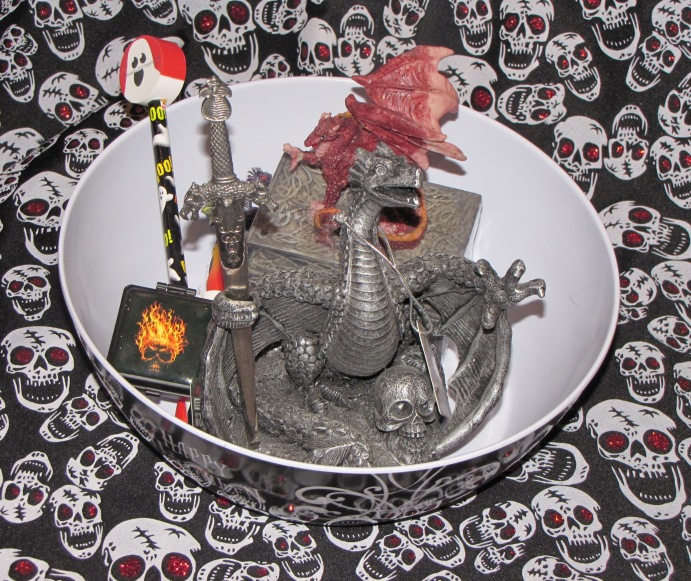 Dragon and Flames Gothic Gift Basket