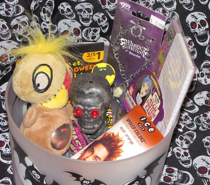 Boy Child Halloween Gothic Gift Basket