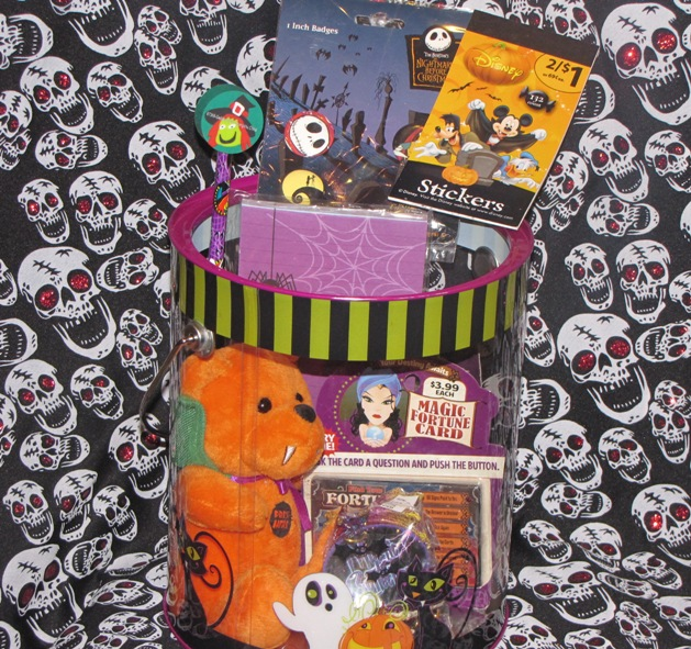 Girl Child's or Unisex Halloween Bear Dragon Gothic Gift Basket