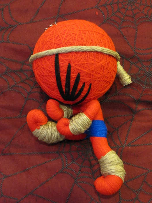 Red & Blue Karate Kung Fu Large Voodoo Doll