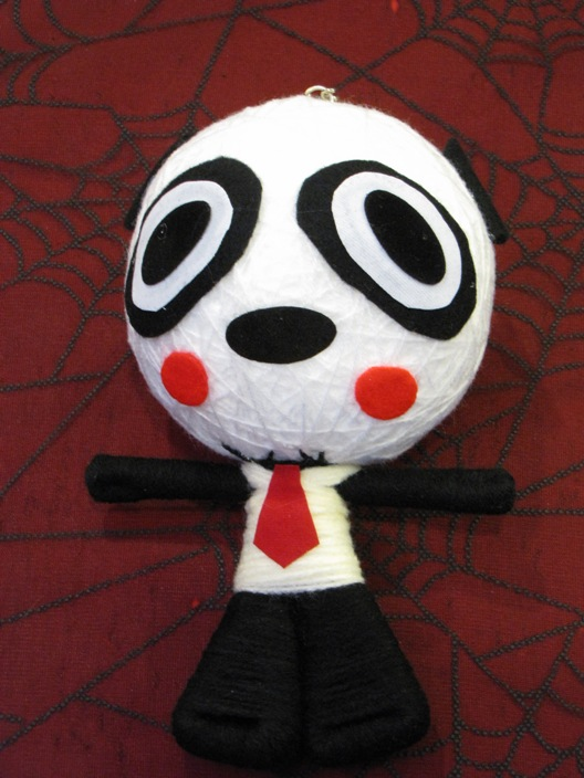 Black & White Panda w Tie Large Voodoo Doll