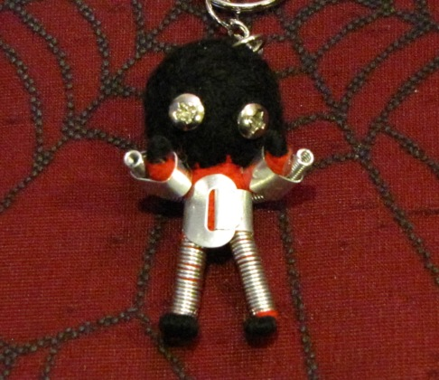 Roboman Tin Man Black Head Voodoo Keychain