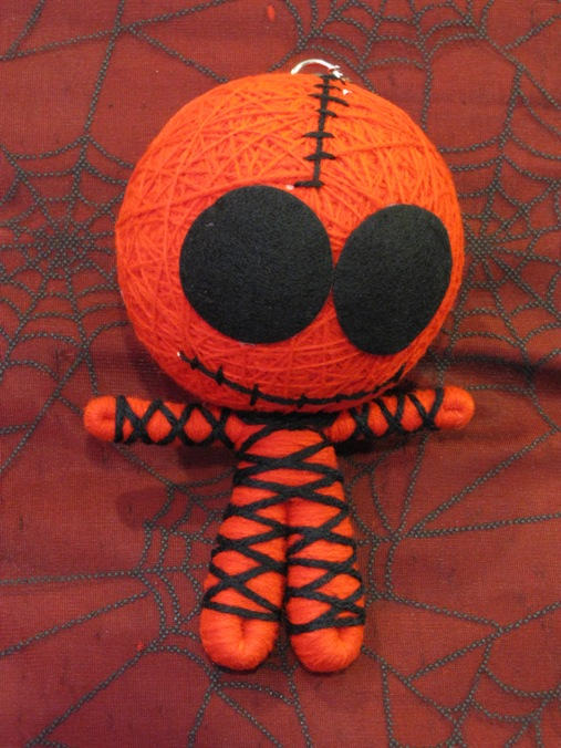 Red & Black Skelly Mummy Large Voodoo Doll