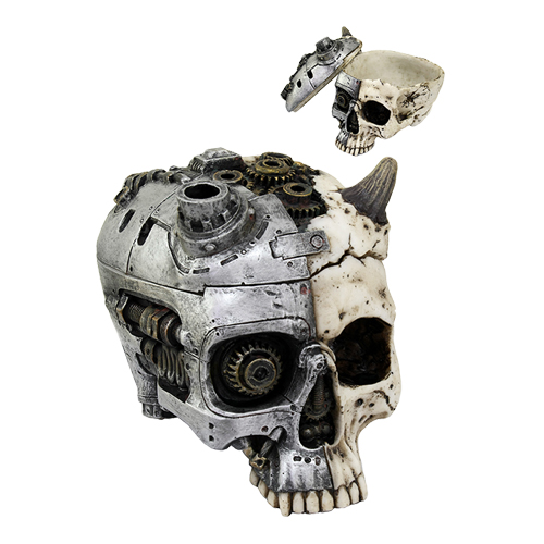 Mechanized Steampunk Horned Skull Box