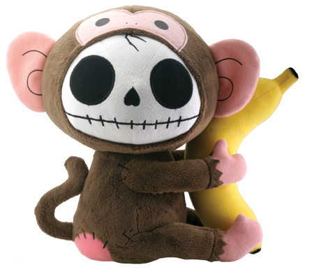 Munky Furry Bones Skellies Plush Toy