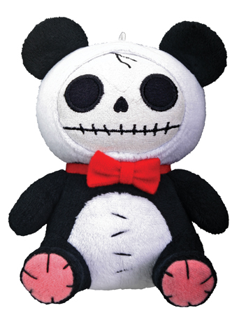 Small Pandi Panda Furry Bones Skellies Plush Toy
