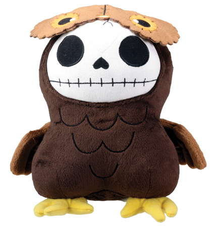 Hootie Owl Furry Bones Skellies Plush Toy