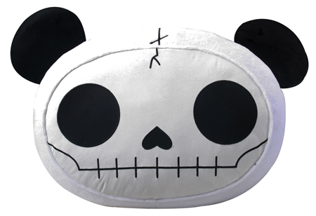 Furry Bones Skellies Pandie Plush Pillow