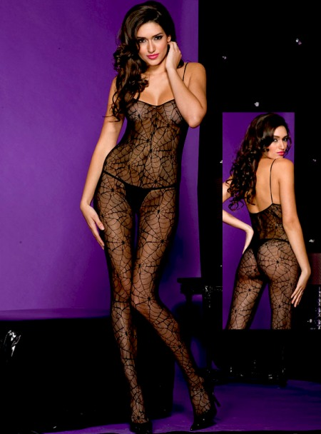 Gothic Spiderweb Bodystocking