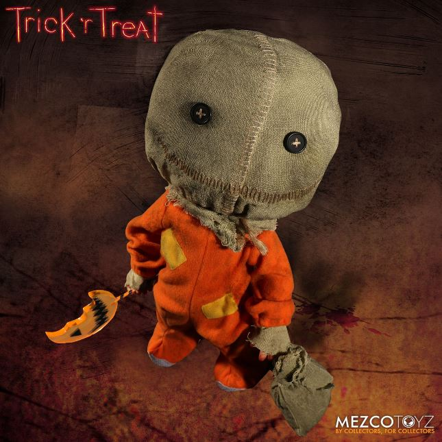 Trick 'r Treat Sam Halloween Mega Scale 15 Inch by Mezco - Click Image to Close