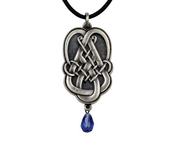 Celtic Tear Drop Pendant Necklace