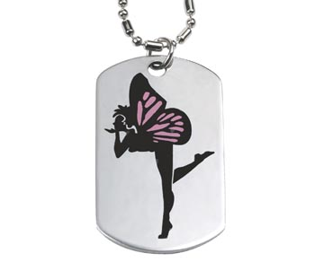 Fairy Dog Tag Necklace