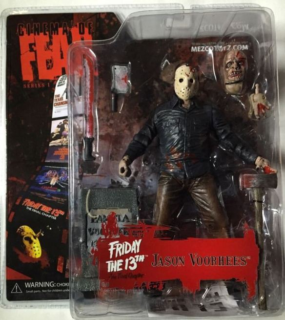 Cinema of Fear Friday the 13th The Final Chapter Jason Voorhees Mezco Series 1 *EXTREMELY DENTED BOX*
