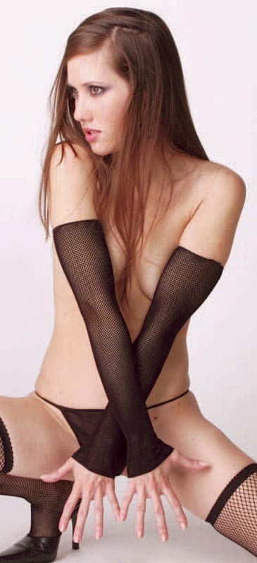 Black Gothic Fishnet Long Arm Warmers