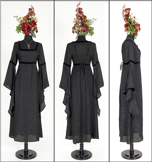 Eternal Love Black Medieval Rose Dress