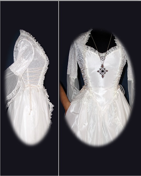 Eternal Love Ivory Wedding Gothic La Belle Dame Dress - Click Image to Close