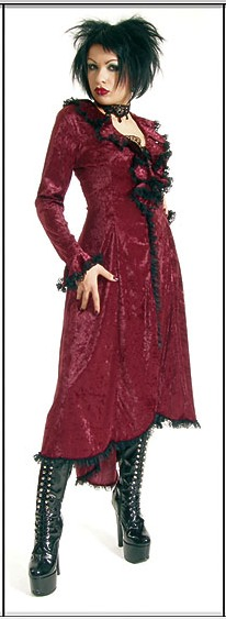 Eternal Love Garnet Gothic Velvet Romantic Dress