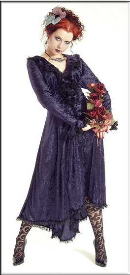 Eternal Love Violet Gothic Velvet Romantic Dress