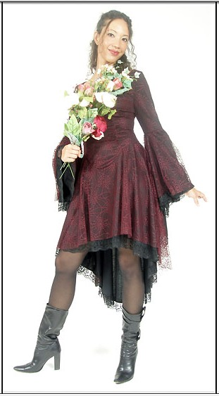 Eternal Love Plus Size Garnet Gothic Gwendolyn Dress Cobweb [5107G] - $77.99 : Mystic Crypt, the most unique, hard to find items at ghoulishly great prices!