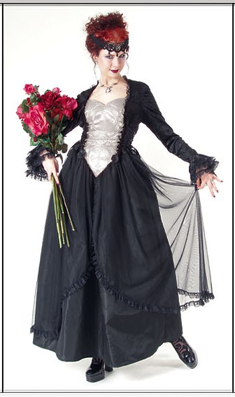 Eternal Love Plus Size Pewter Gothic Crucifix+ Roses Belle Dame