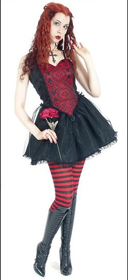 Eternal Love Gothic Scarlet Red Sacred Heart Mini Dress Tutu