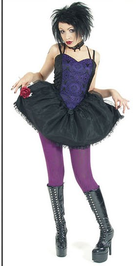 Eternal Love Gothic Violet Purple Sacred Heart Mini Dress Tutu