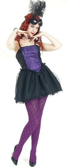 Eternal Love Gothic Violet Purple Crucifix & Roses Mini Dress Tutu