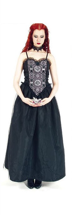 Eternal Love Pewter Sacred Heart Party Dress - Click Image to Close