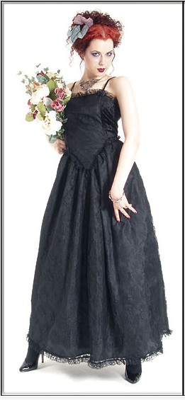 Eternal Love Gothic Black Taffeta Lace Party Dress [5145B] - $75.99 : Mystic Crypt, the most unique, hard to find items at ghoulishly great prices!