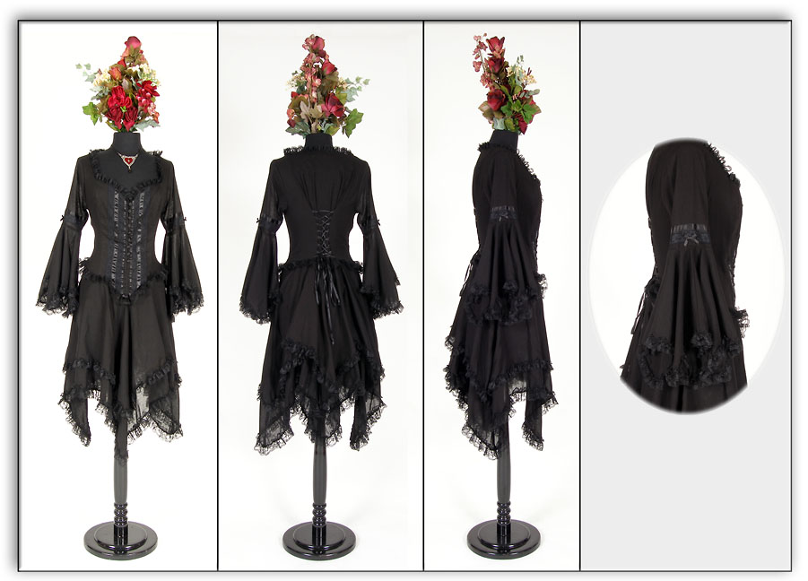 Eternal Love Plus Size Black Gothic Morgaine En Voile Dress [5158] - $95.99 : Mystic Crypt, the most unique, hard to find items at ghoulishly great prices!