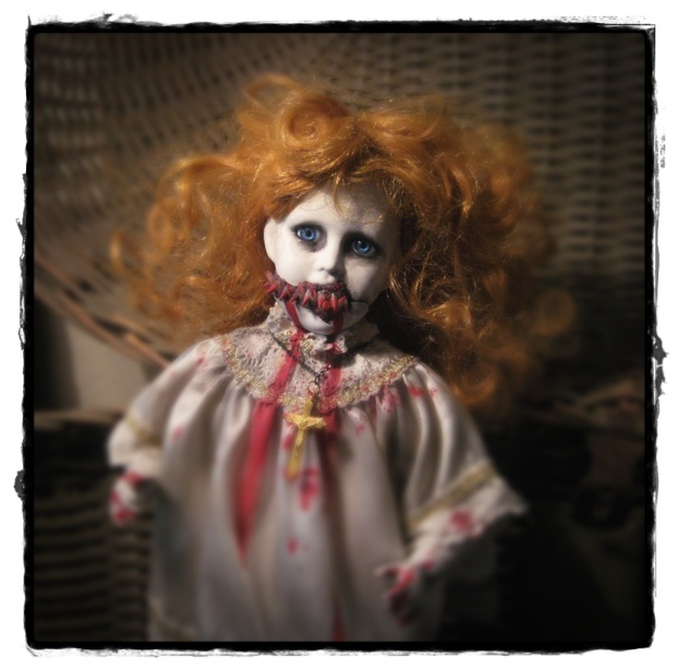Choir Girl Vampire Creepy Horror Doll by Bastet2329