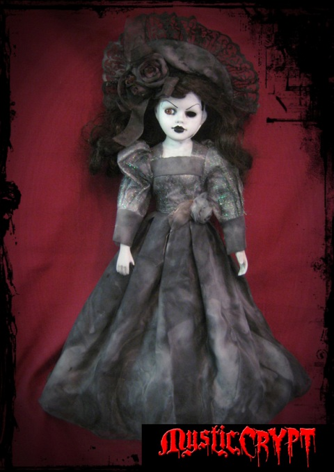 One Eye Mourning Lady Shimmer Dress Creepy Horror Doll by Bastet