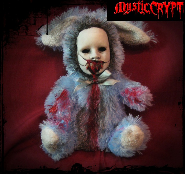 Blue Vampire Rabbit Bunny Creepy Horror Doll by Bastet2329
