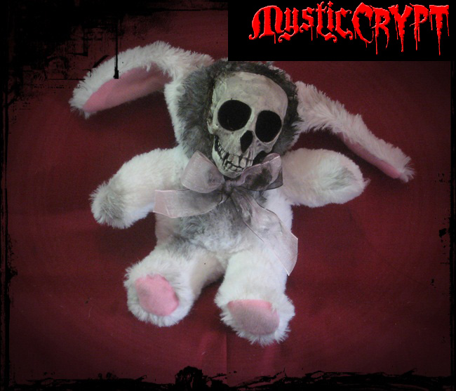 White Skull Rabbit Bunny Creepy Horror Doll by Bastet2329