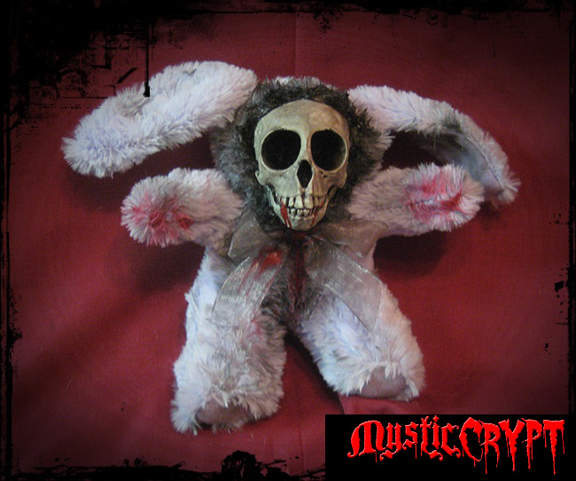 Purple Skull Rabbit Bunny Creepy Horror Doll by Bastet2329