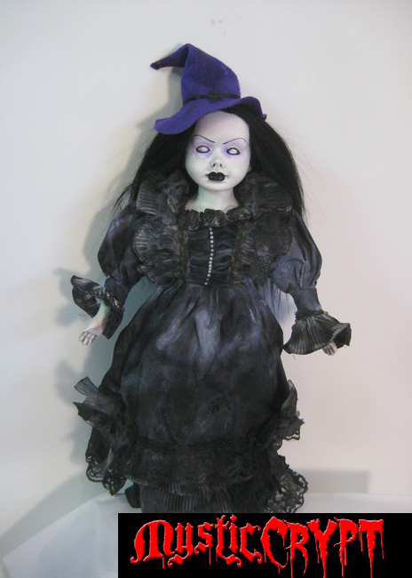 Mourning Witch Gothic Black Hair Creepy Horror Doll by Bastet232