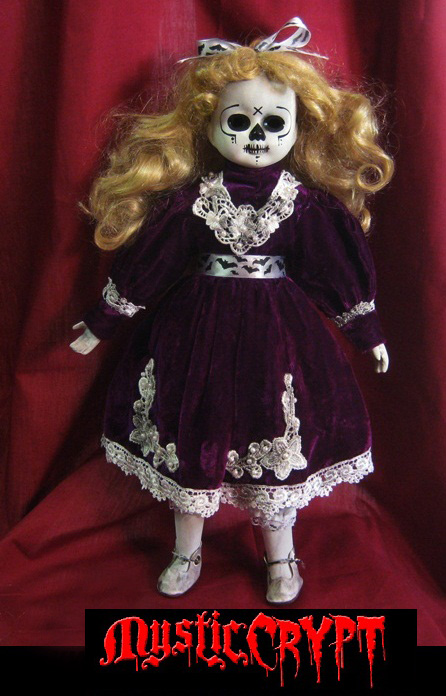 Day of the Dead in Purple Creepy Horror Doll by Bastet2329