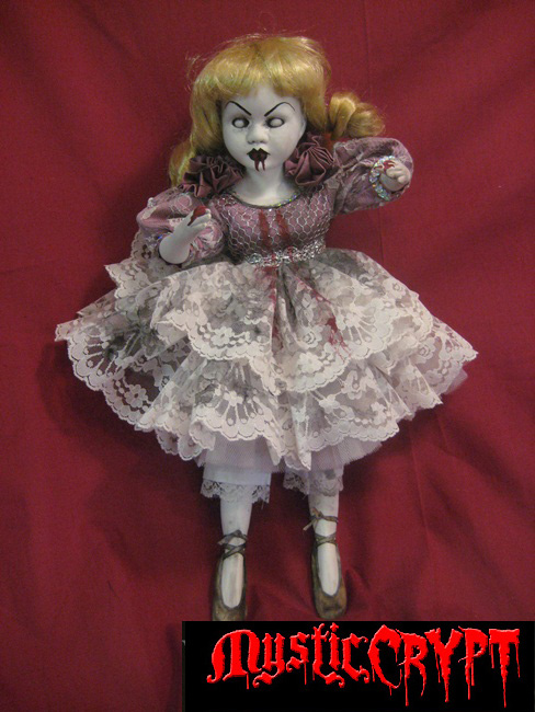 Bloody Zombie Ballerina Doll Creepy Horror Doll by Bastet2329