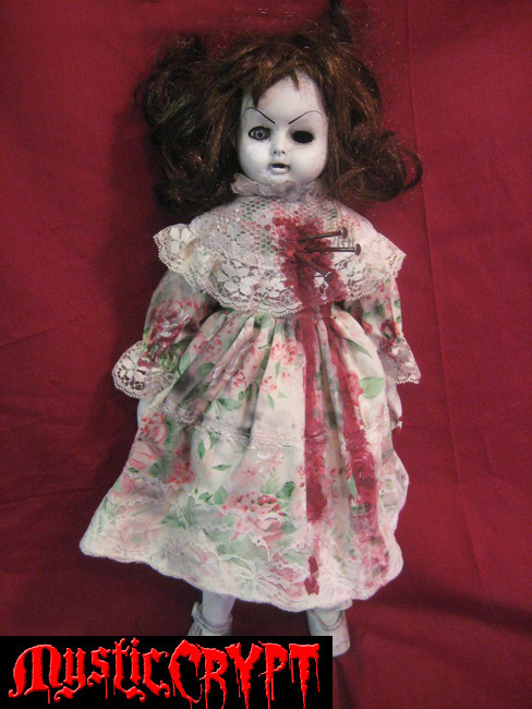 Voodoo Nails Bloody Musical Creepy Horror Doll by Bastet2329