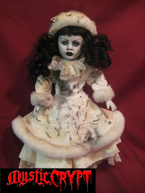 Spooky Winter Lady Creepy Horror Doll by Bastet2329