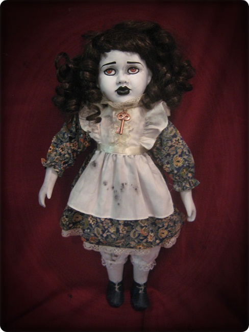 Brown Eye Reproduction Key Creepy Horror Doll by Bastet2329