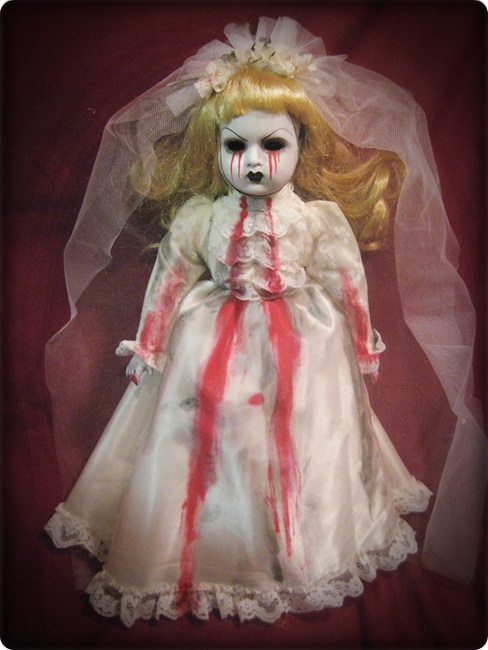 Blonde Tears of Blood Bride Creepy Horror Doll by Bastet2329