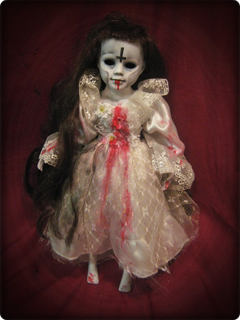 Zombie with Long Hair Creepy Horror Doll by Bastet2329