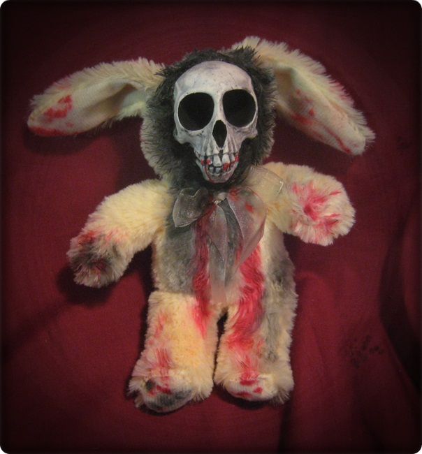 Yellow Skull Rabbit Bunny Creepy Horror Doll by Bastet2329