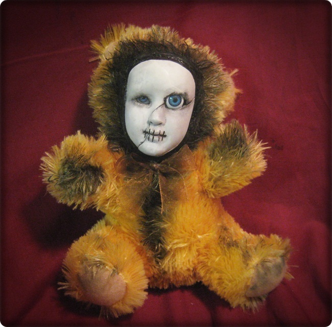 Creepy One Big Eye Teddy Bear Creepy Horror Doll by Bastet232
