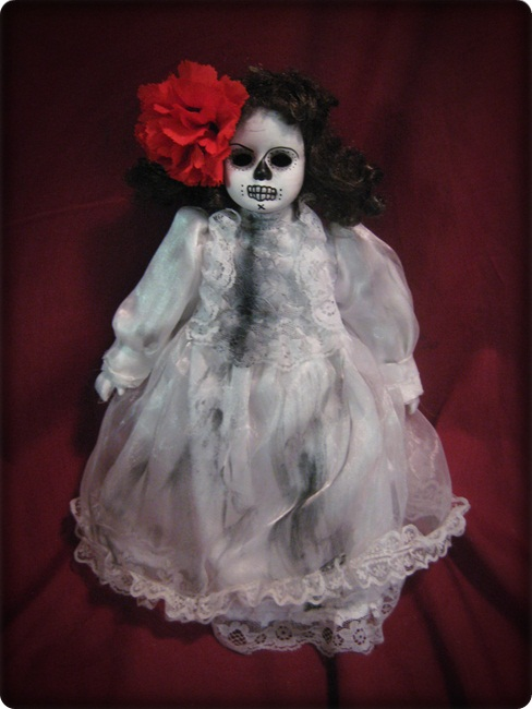 Small Day of Dead in White Creepy Horror Doll by Bastet2329