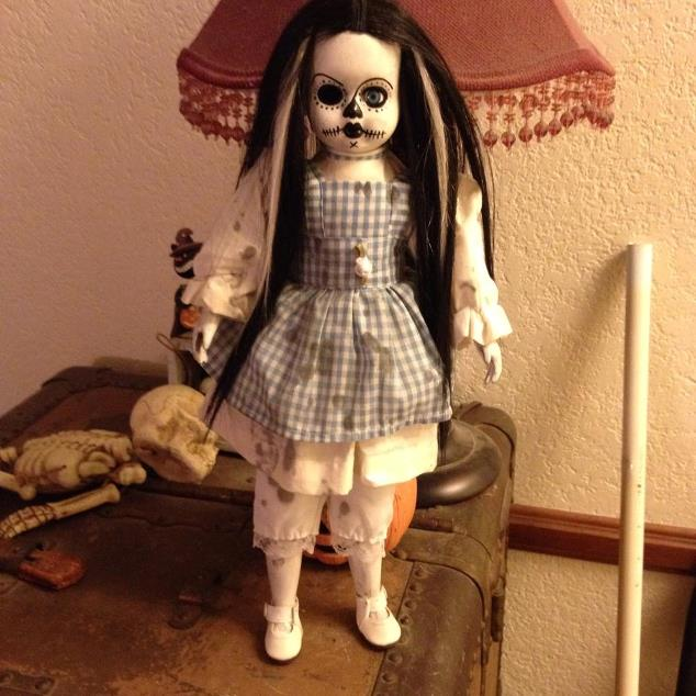 Black & White Day of the Dead Alice Doll Creepy Horror Doll by Bastet2329