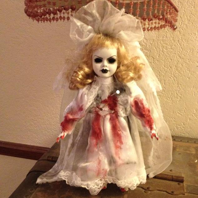 Smaller Voodoo Nails Bloody Bride Creepy Horror Doll by Bastet2329