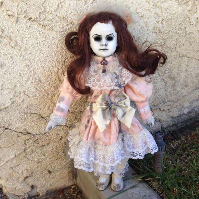 Old Key No Eyes Sweet Girl Creepy Horror Doll by Bastet2329