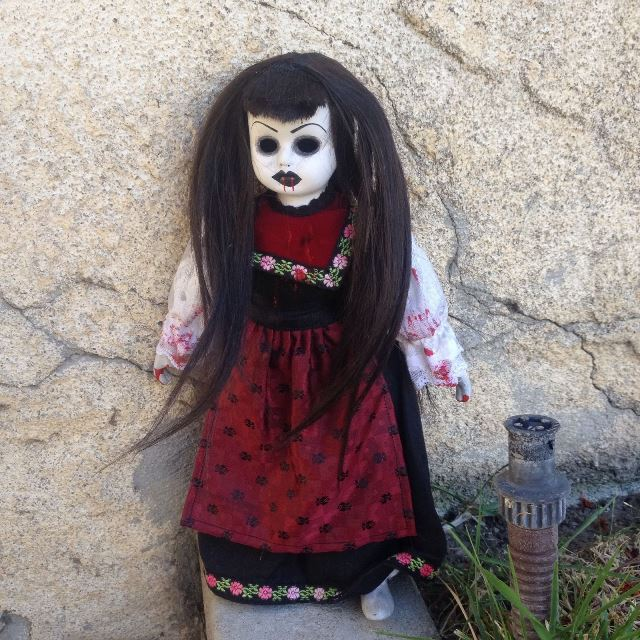 Smaller Peasant Vampire Girl Creepy Horror Doll by Bastet2329